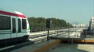議政府軽電鉄(U-LINE) VAL208 議政府市庁駅入線