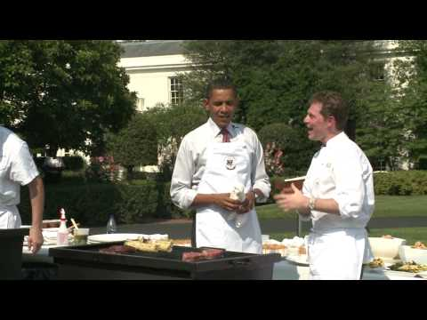 President Obama Grilling with Bobby Flay