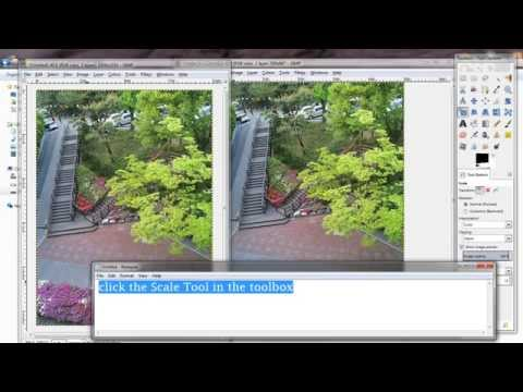GIMP tutorial - how to resize a picture to the bigger pixels thumbnail