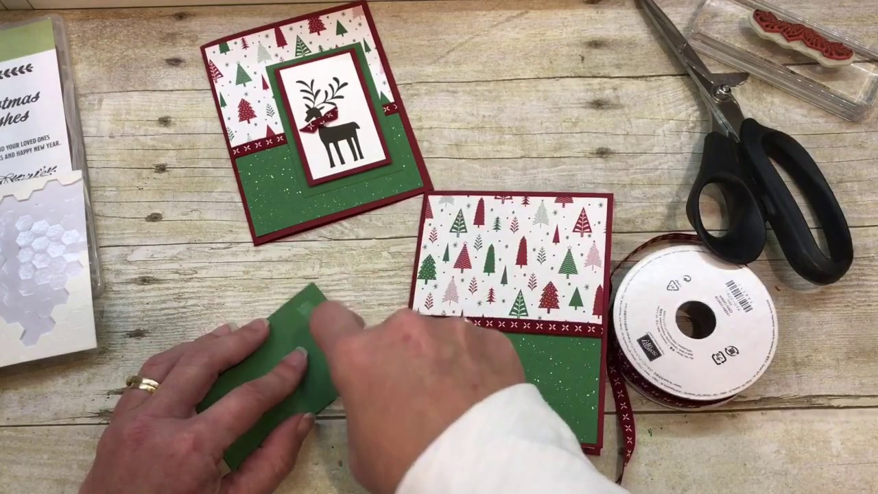 How to make a simple Christmas Card with Stampin Up\'s Merry ...