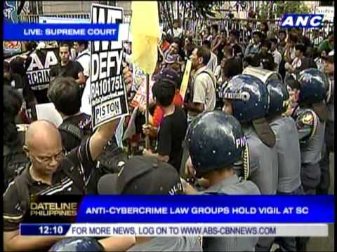 Anti-Cybercrime law groups protest at SC