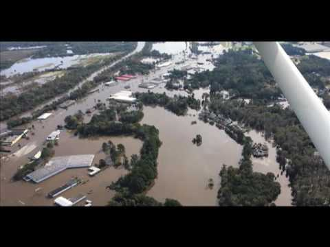 Kinston N C Flooding From The Air Oct 14 2016 Youtube