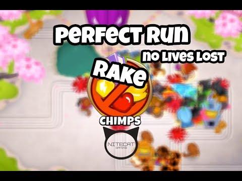 Bloons TD6 Rake CHIMPS Mode Perfect Run