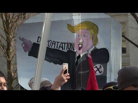 """Washington: Manifestation pour la """"Journée sans immigrés"""""""