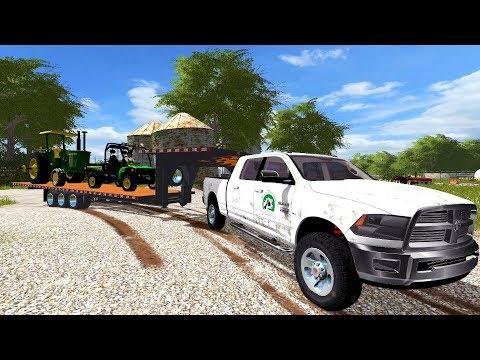FARMING SIMULATOR 2017 | NEW JD GATOR ARRIVES AT THE FARM + FINISHING UP CORN HARVEST | EP# 7