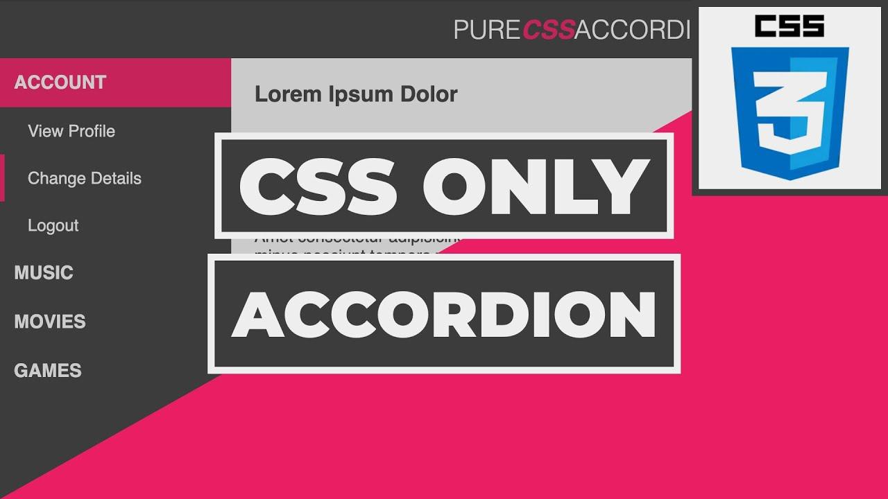 Pure CSS Accordion Menu