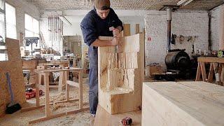 Что можно сделать из тонны тополя цепной пилой и стамеской - Basic Forms