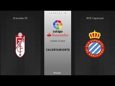 Calentamiento Granada vs Espanyol