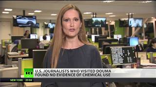 US journalists find no evidence of chemical use in Syria