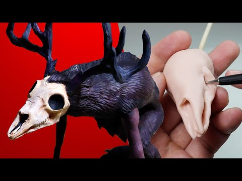 Making A WENDIGO! *flesh-eating Monster* - Sculpting Subscriber Requests No. 10 - Sculpture Process