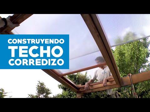 Techo plegable cvn doovi for Como hacer un toldo corredizo