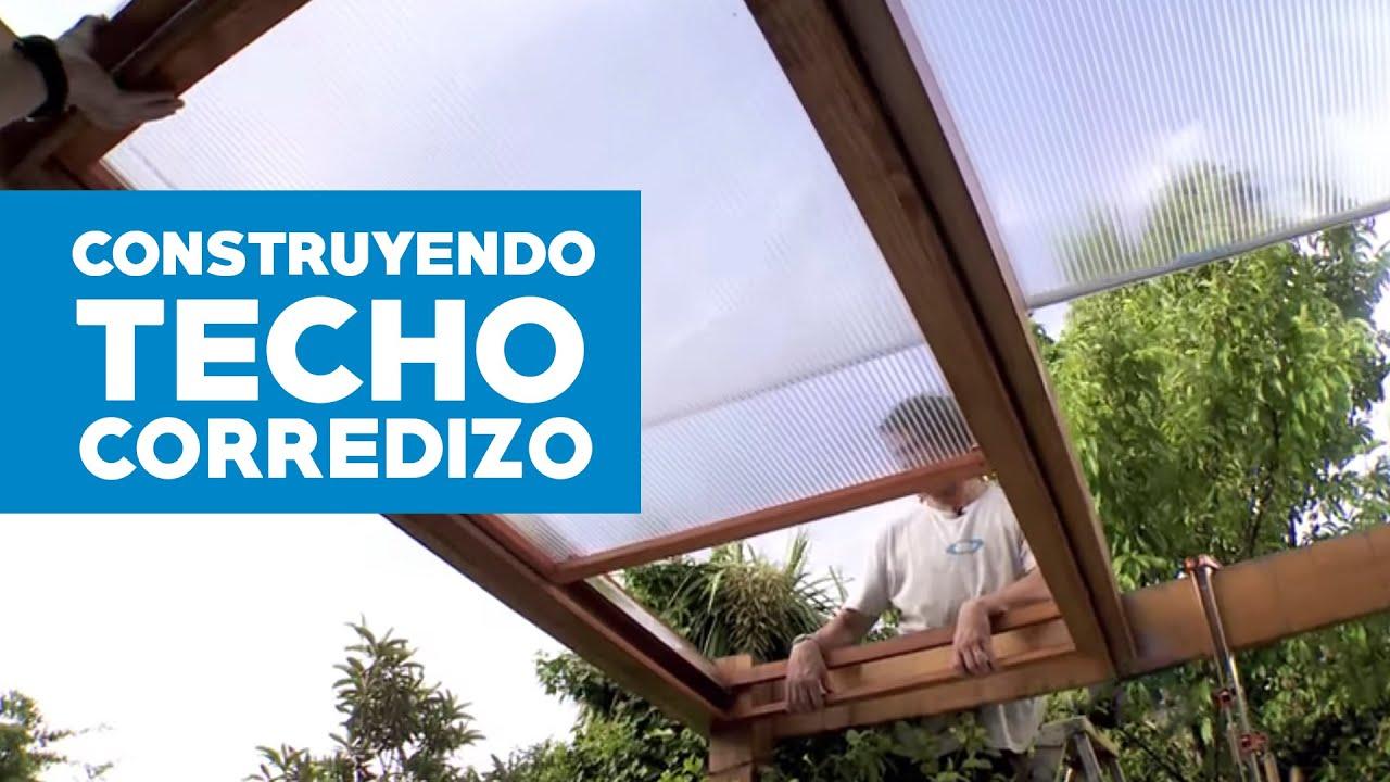 C mo hacer un techo corredizo de policarbonato youtube for Ideas para hacer un techo en el patio