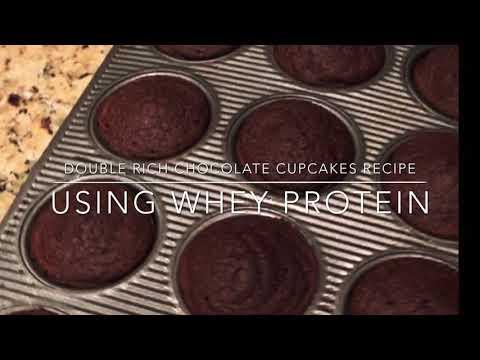 chocolate-brownie-bites-/-cupcakes-recipe-using-whey-protein-powder