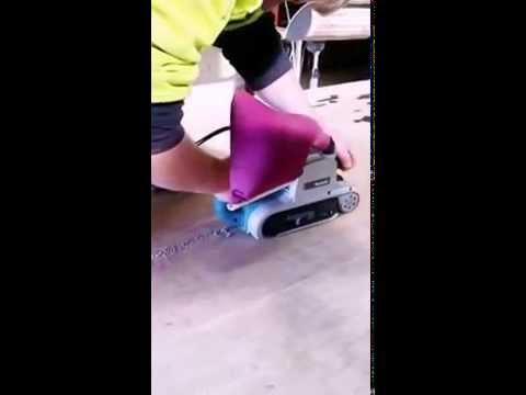 Sanding resin on table top