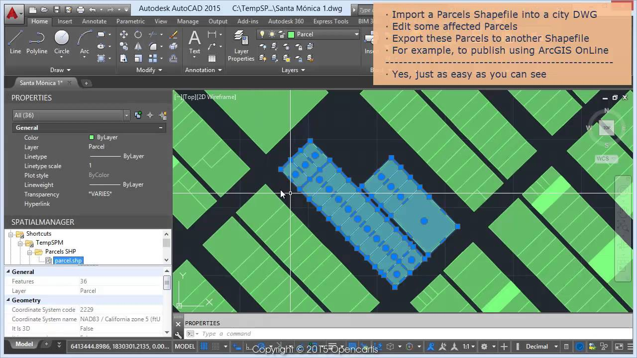 Import a Shapefile  Edit & export as Shapefile (AutoCAD) - Spatial Manager™  Blog