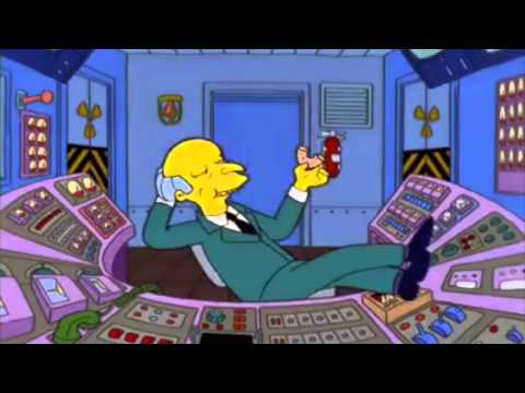 The Simpsons - Mr  Burns covers Homer's work shift (S13Ep21)