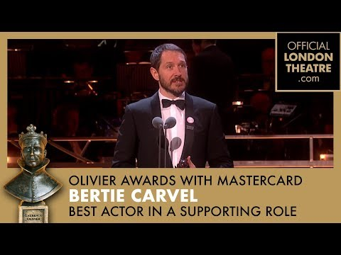 BEST ACTOR IN A SUPPORTING ROLE  Bertie Carvel for Ink  Olivier Awards 2018