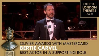 BEST ACTOR IN A SUPPORTING ROLE - Bertie Carvel for Ink - Olivier Awards 2018