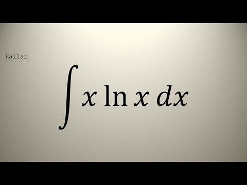 INTEGRAL 53  ∫xlnx dx