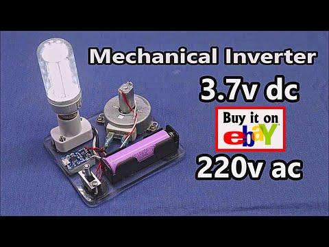DC Motor to AC Generator - Emergency Light...