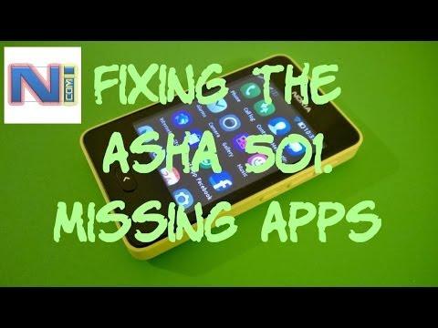Fix Nokia Asha 501/5XX Missing Apps