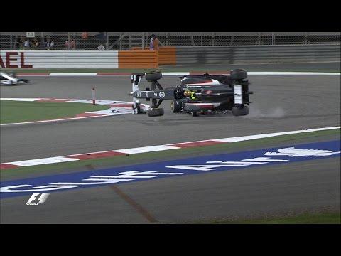 Maldonado And Gutierrez Crash | 2014 Bahrain Grand Prix