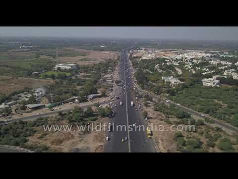 Gujarat highway infrastructure as seen from the air: Ahmedabad Shining?