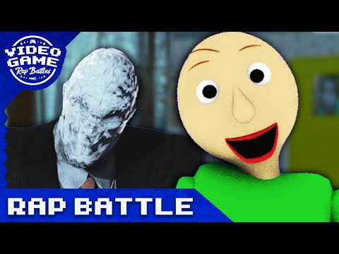 Slender Man vs Baldis Basics   Game Rap Battle