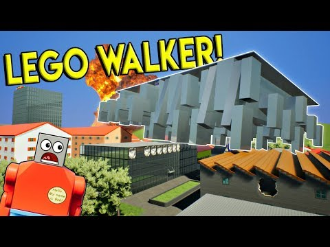MASSIVE LEGO WALKER CRUSHES ENTIRE TOWN! - Brick Rigs Gameplay Challenge - Lego City Toy Destruction