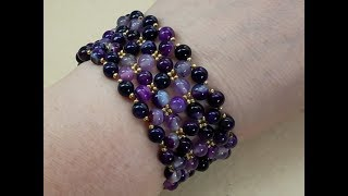 Armband selber machen Naturstein easy giftideas bracelet DIY natural beaded pulsera bilezik браслет