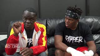 KSI and Jeff Mayweather predict an Anthony Joshua vs. Deontay Wilder fight
