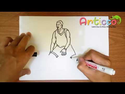 how to draw stephen curry step by step easy