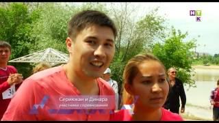 На шею села и ножки свесила! В Алматы прошёл забег с жёнами!(, 2016-05-17T09:03:01.000Z)