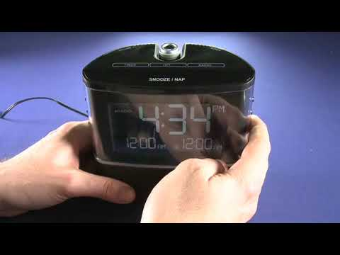 Sharper Image Projection Alarm Clock Youtube