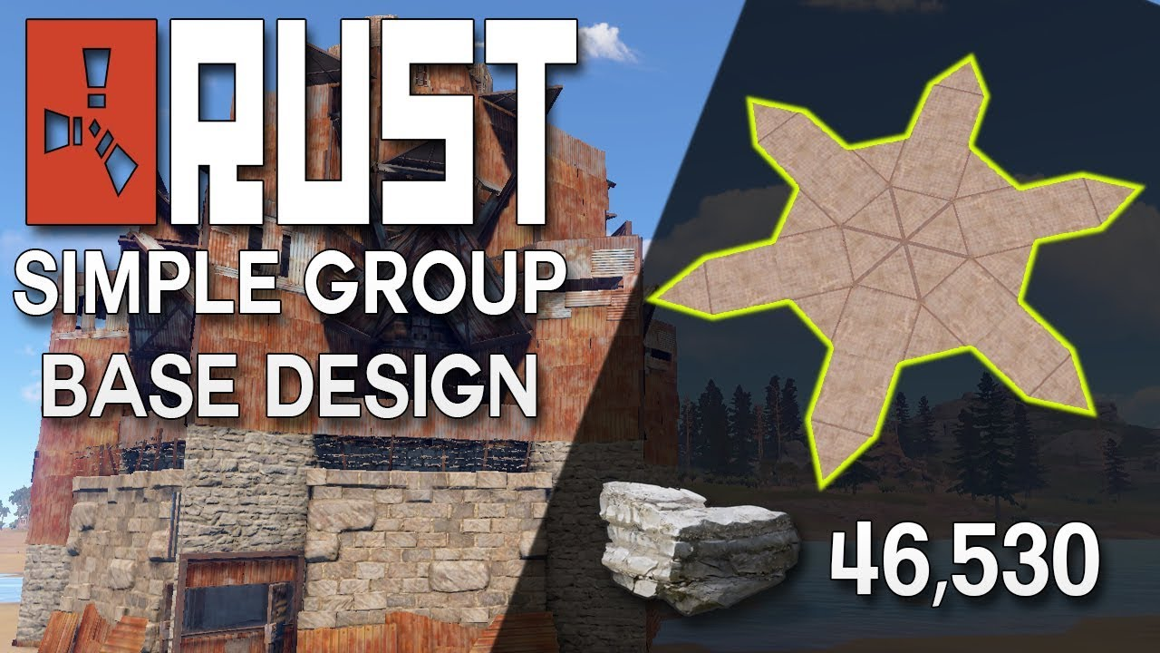 Rust group base design with heli tower easy to build rust base rust group base design with heli tower easy to build rust base building 46530 stone malvernweather Choice Image