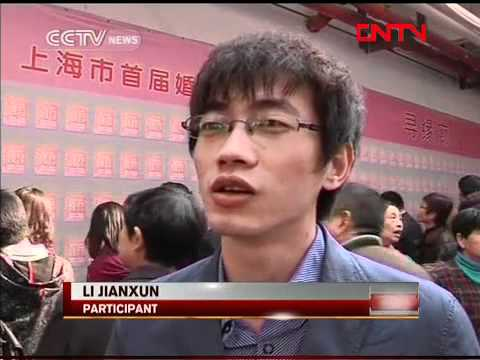 Match making fair attracts thousands in Shanghai, China.