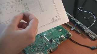 Ремонт ноутбука Toshiba Satellite A210-19B ч.1(Всем привет! В этом видео вы увидите некоторые методы диагностики и работы со схемой при ремонте ноутбука..., 2014-09-09T09:08:35.000Z)