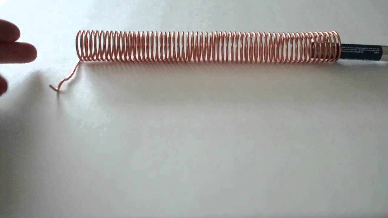 Copper wire coil- battery- 2 neodymium magnets - YouTube
