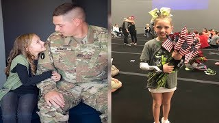 Army Dad and Entire Unit Perform Cheer Routine in Sweet Video to Surprise 9-Year-Old Daughter - 247