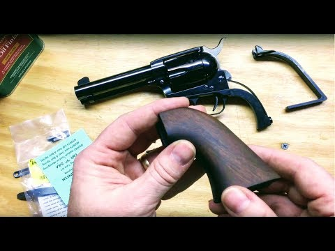 45LC Single Action - Upgrading Grip and Springs - YouTube