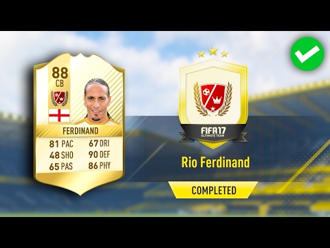 RIO FERDINAND SBC *NEW LOAN LEGEND* (COMPLETED/CHEAP) FIFA 17 ULTIMATE TEAM
