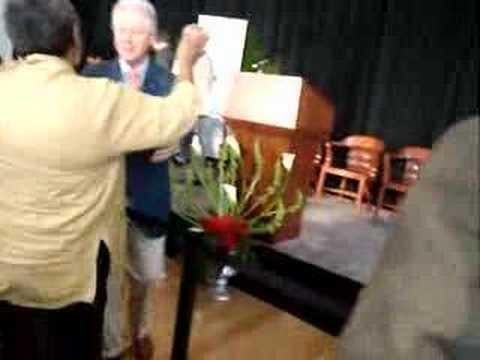 Bill Clinton, June Sarpong and Nic Careem and Jani...