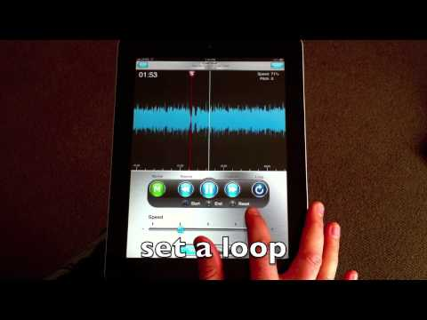 Riffmasterpro ipad - how to slow down a song keep the pitch