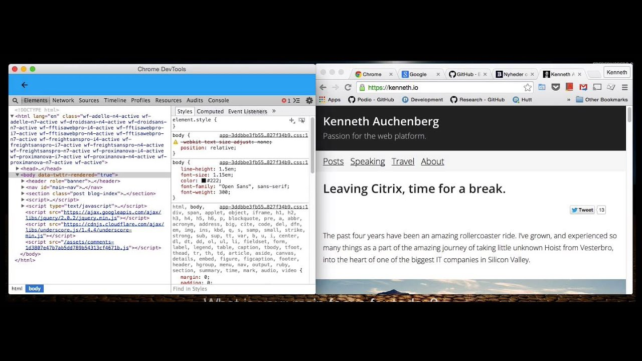 Taking Chrome DevTools outside of the browser  — Kenneth