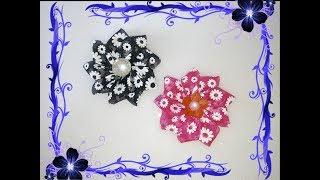 Цветы канзаши. Цветы из атласных лент. Flowers kanzashi. thumbnail