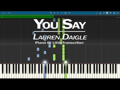 Lauren Daigle - You Say (Piano Cover) Synthesia Tutorial by LittleTranscriber
