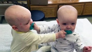 Nothing is more FUNNY than TWIN BABIES FIGHTING OVER PACIFIER - Enjoy Watching and LAUGH HARD!