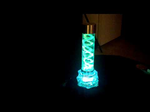 Grown Crystal and EL-Wire DNA Lamp...