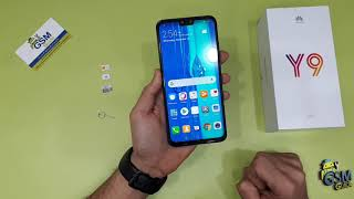 Huawei Y9 2019 First Setup Active Insert nano Sim and Sd card- Gsm Guide