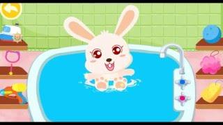 Купание малыша Панда Кики и Зайка Момо Мультфильм и игра для самых маленьких  #Мультики  #kiki